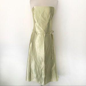 VTG Jessica McClintock Strapless Midi Dress Sz 14